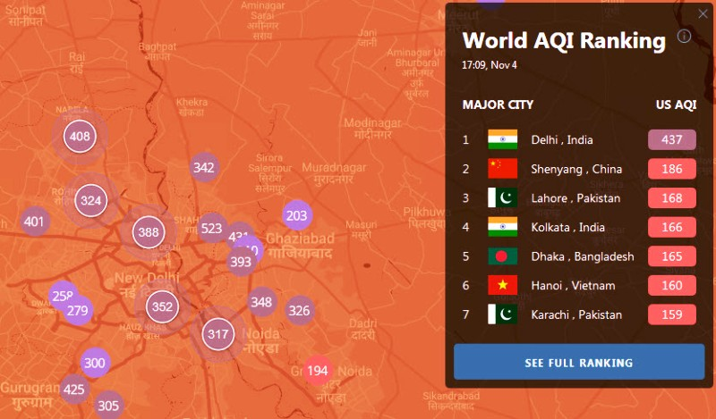Air Pollution - Air Quality Nov 4, 2019 Delhi.jpg