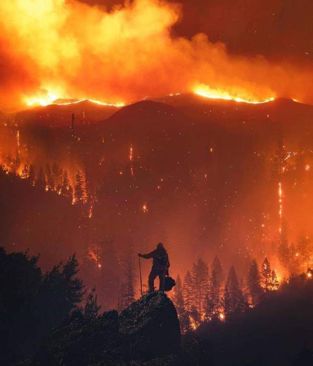 Calif on fire ... firefighter on duty.jpg