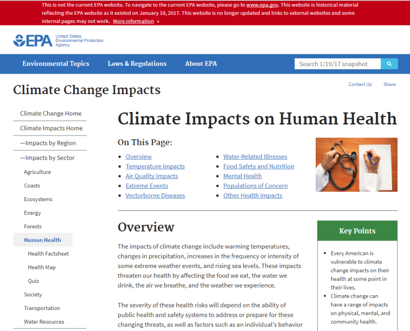 Climate Impacts on Human Health EPA Website Jan 2017 (before removal).png