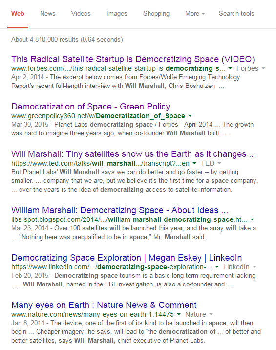 Democratization of space Google June 2015.png