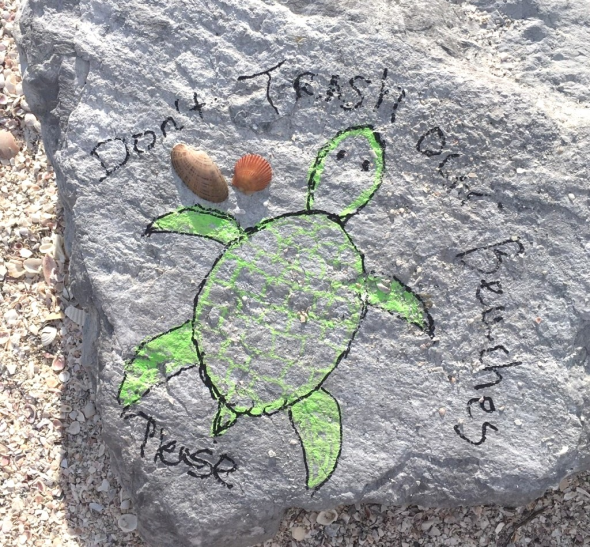 Dont Trash Our Beaches Please - from St. Pete Beach Turtle.png