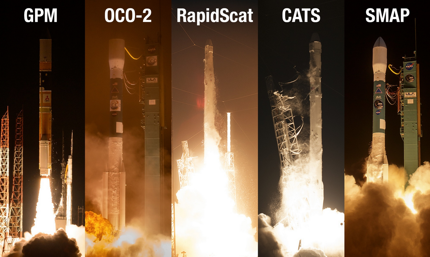 EarthRightNow Earth Science @work via 2014-2015 NASA launches.png