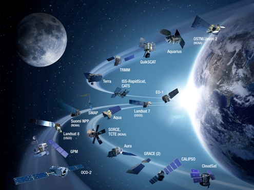 EarthRightNow Earth Science satellite fleet circa 2015 m.jpg