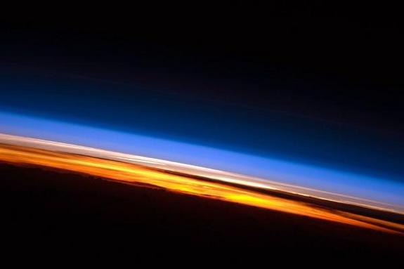 Earth sunset over India ocean.jpg