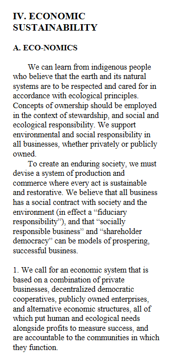 Economic Sustainability - Eco-nomics excerpt from US Green Party Platform 2000.png