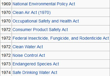 Env policy laws US 'the beginning' of env era .jpg