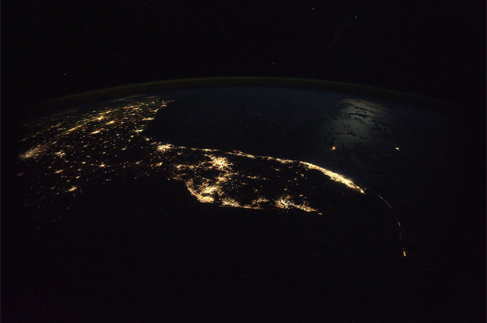 Florida at night ISS Nov2,2010.jpg