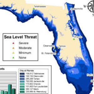 SeaLevel Rise Green Policy - Projected sea level rise map