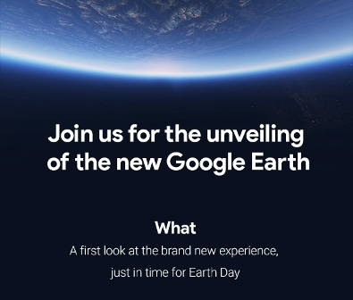 Google Earth invite-just in time for Earth Day.jpg