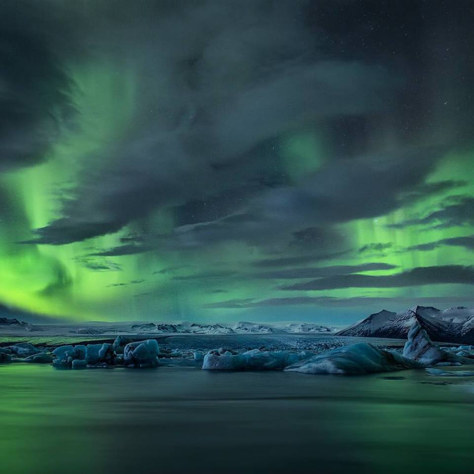 Green dragon over Iceland 2015 Belegurshi.jpg