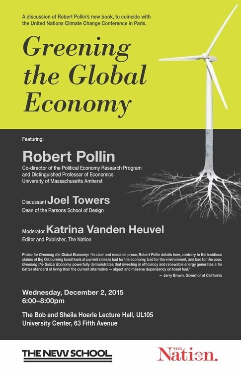 Greening the Global Economy Robert Pollin.jpg