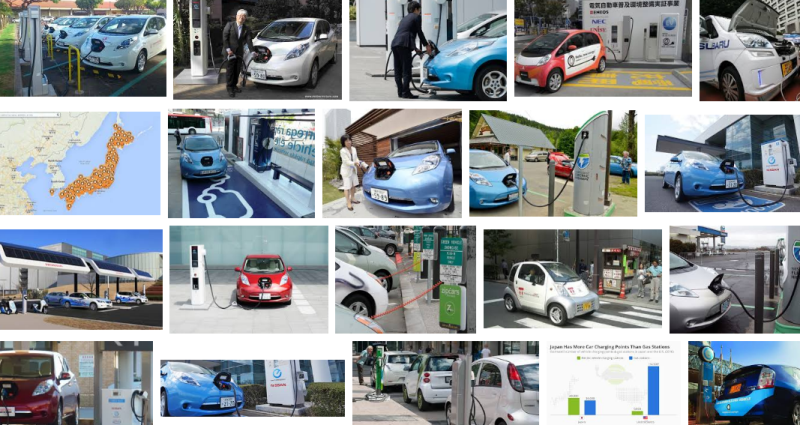 Japan, more car charging sites than gas stations montage2016.png