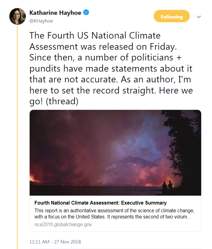 Katharine Hayhoe on the Fourth US National Climate Assessment (Thread).png