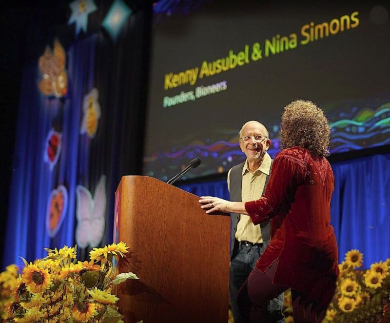 Kenny - Nina opening the Bioneers 30th annual conference, 2019.jpg