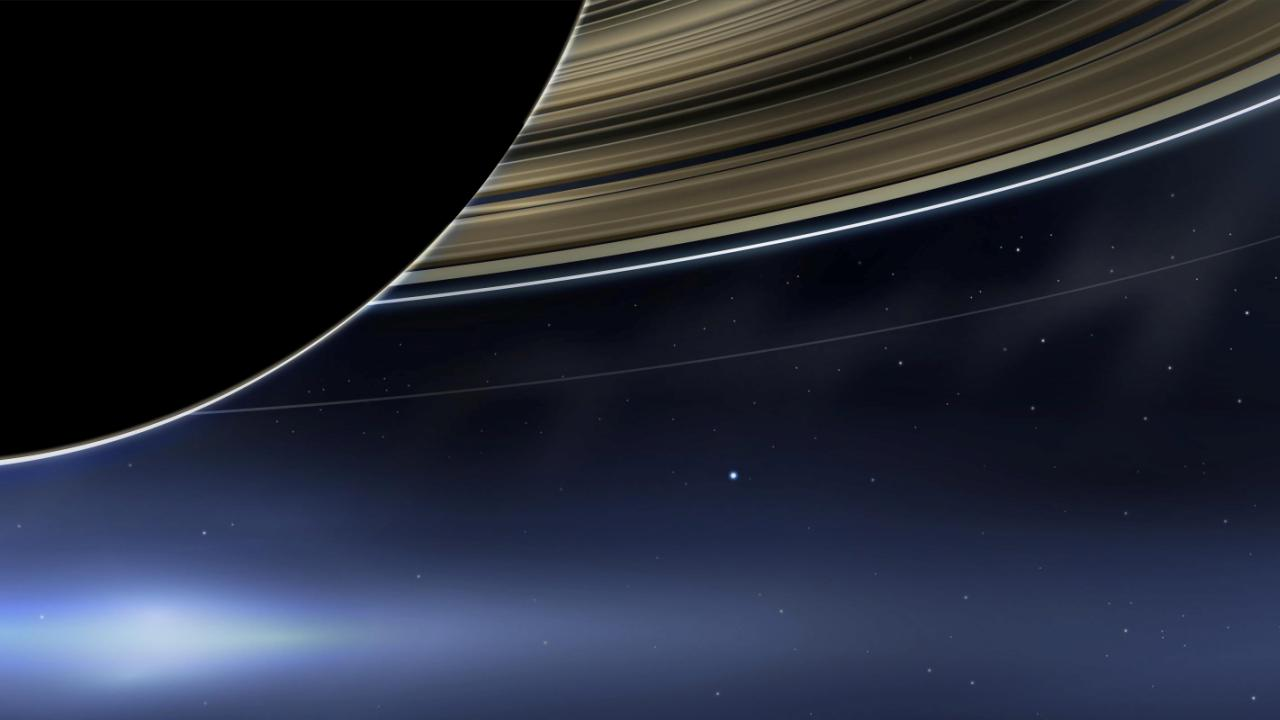 Pale blue dot from Saturn via Cassini 2013 1280x720.jpg
