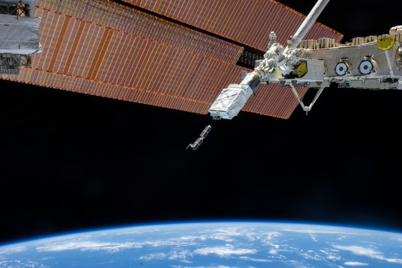 Planet Labs and NanoRacks launch from the ISS Feb 2014.jpg