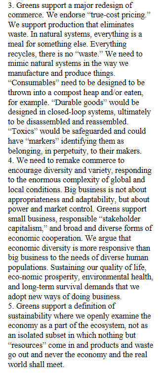 True-cost pricing and sustainability excerpt from US Green Party Platform 2000.png